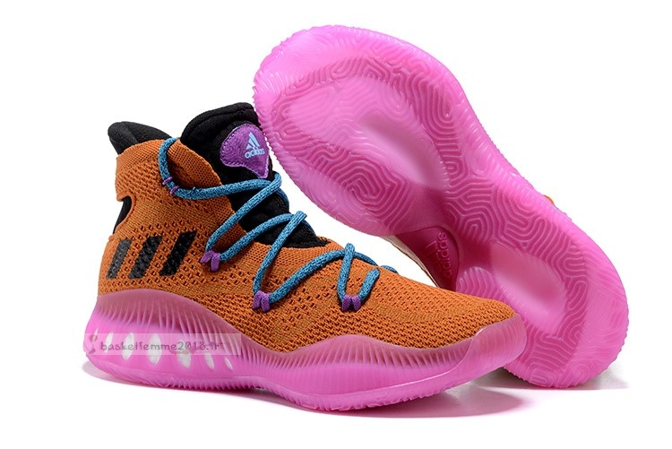 Adidas Crazy Explosive Primeknit Orange Rose Bleu Chaussure de Basket