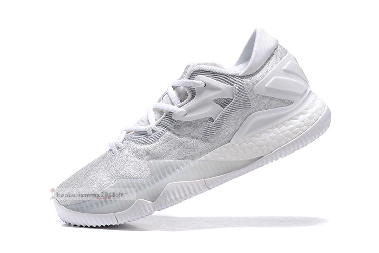 Adidas Crazylight Boost Blanc Gris Chaussure de Basket