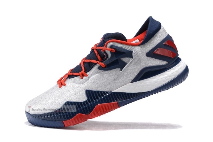 Adidas Crazylight Boost Blanc Marine Rouge Chaussure de Basket