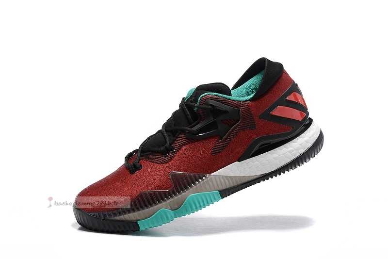 "Adidas Crazylight Boost ""Ghost Pepper"" Rouge Bleu Chaussure de Basket"