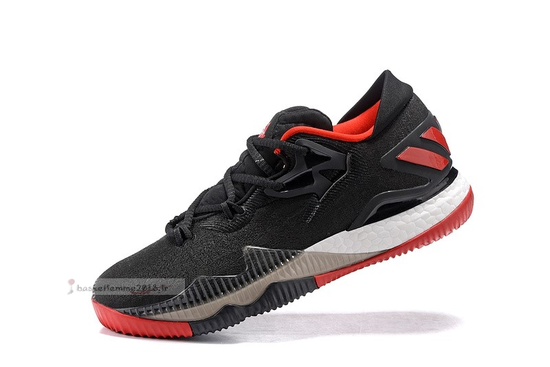 Adidas Crazylight Boost Noir Rouge Blanc Chaussure de Basket