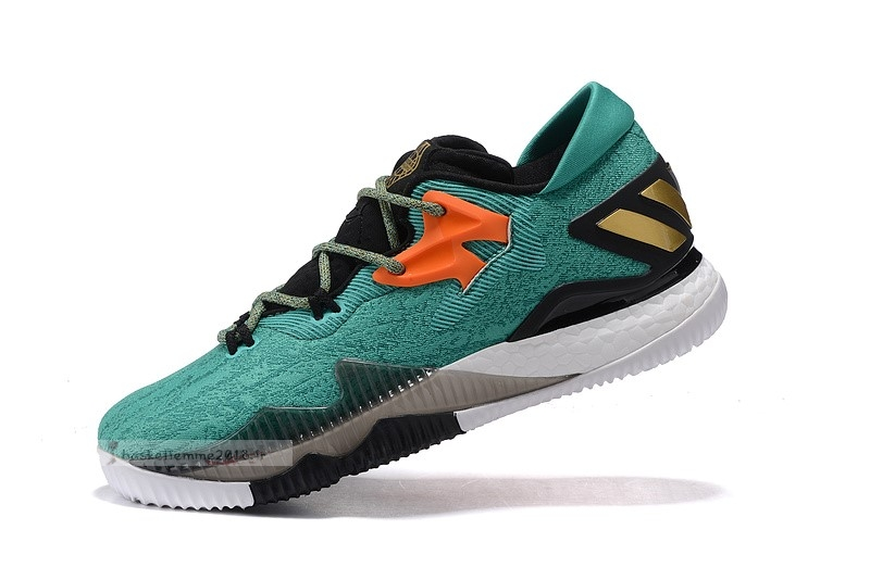 Adidas Crazylight Boost Vert Noir Orange Chaussure de Basket