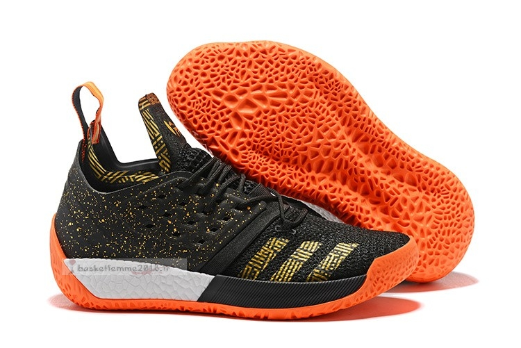 Adidas Harden Vol. 2 Noir Orange Or Chaussure de Basket