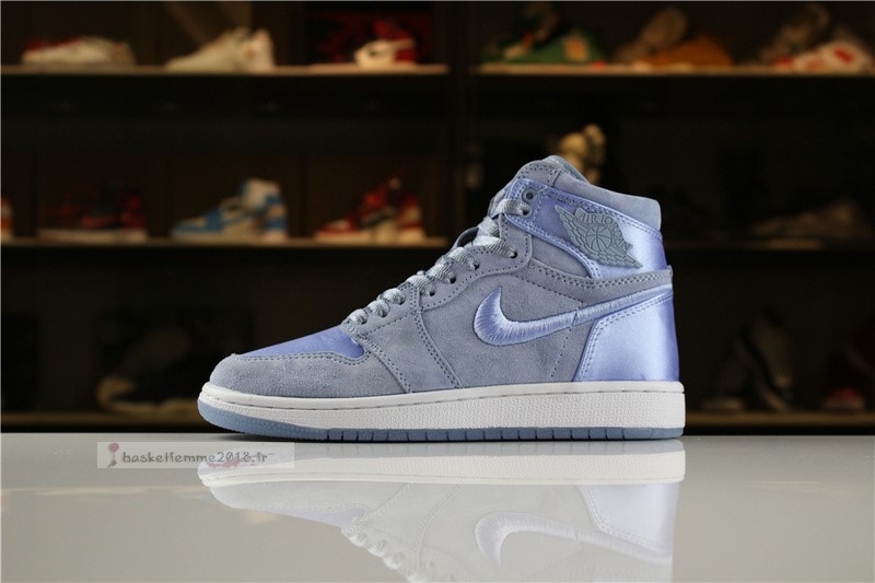 "Air Jordan 1 Femme ""Summer Of High"" Bleu Blanc Chaussure de Basket"