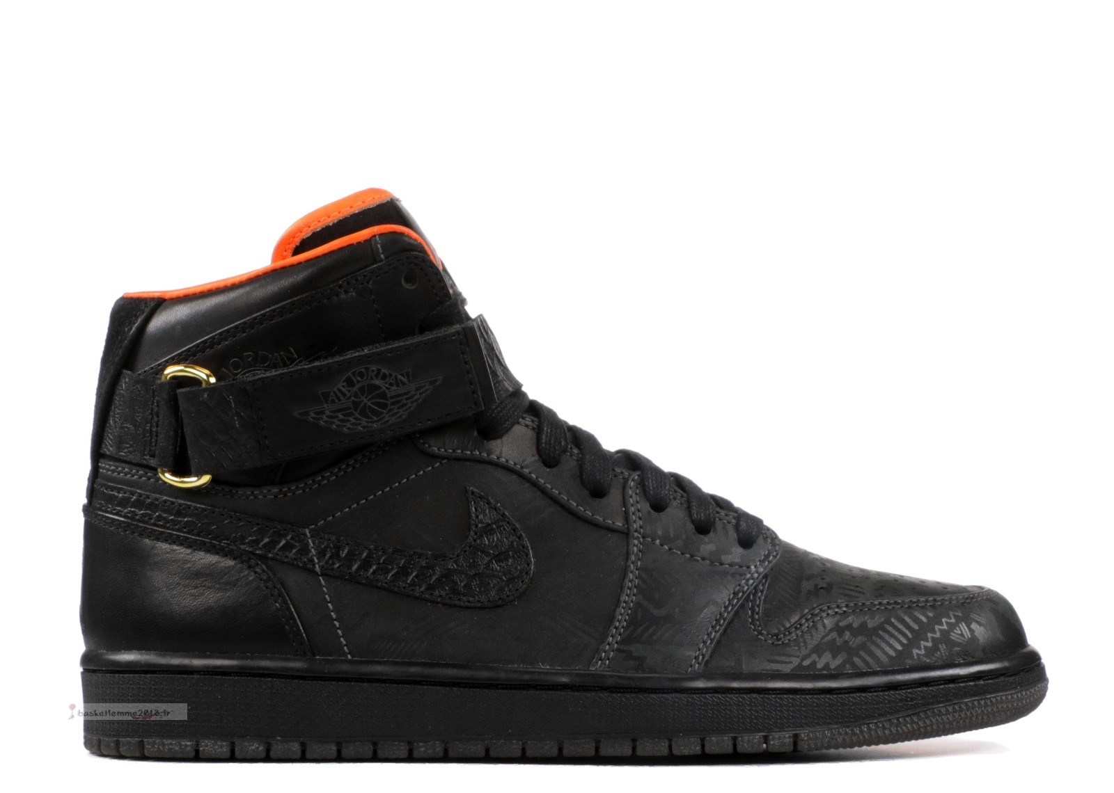 "Air Jordan 1 High Strap Promo ""Just Don Bhm"" Noir (386009-xc) Chaussure de Basket"