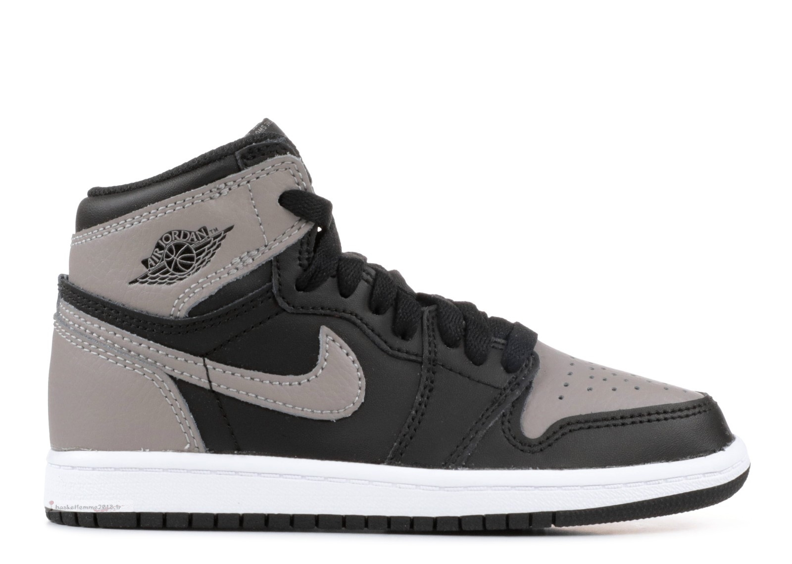 "Air Jordan 1 Retro 1 High Og Bp ""Shadow"" Noir Gris Blanc (aq2664-013) Chaussure de Basket"