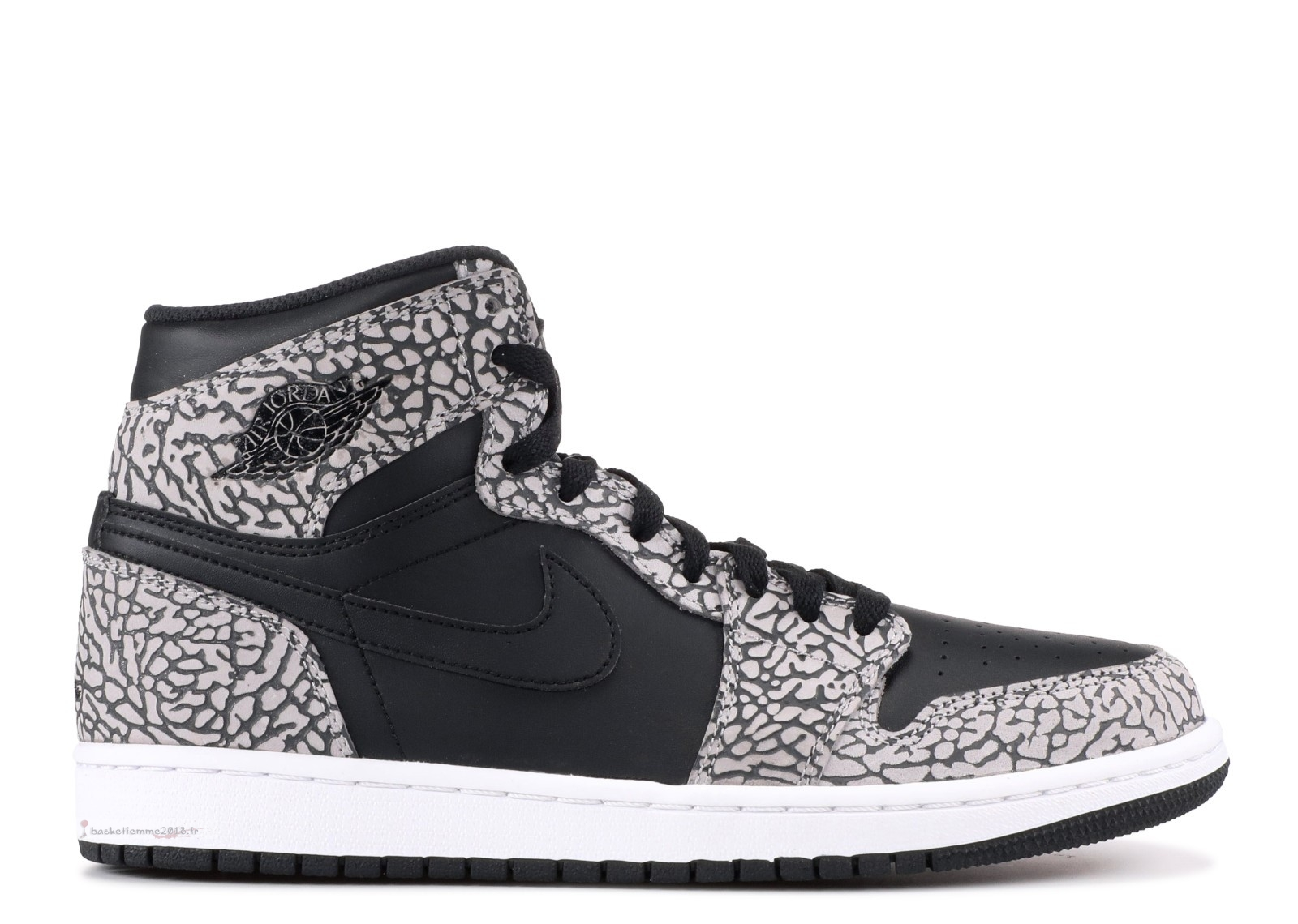 "Air Jordan 1 Retro High ""Noir Elephant Print"" Noir (839115-013) Chaussure de Basket"