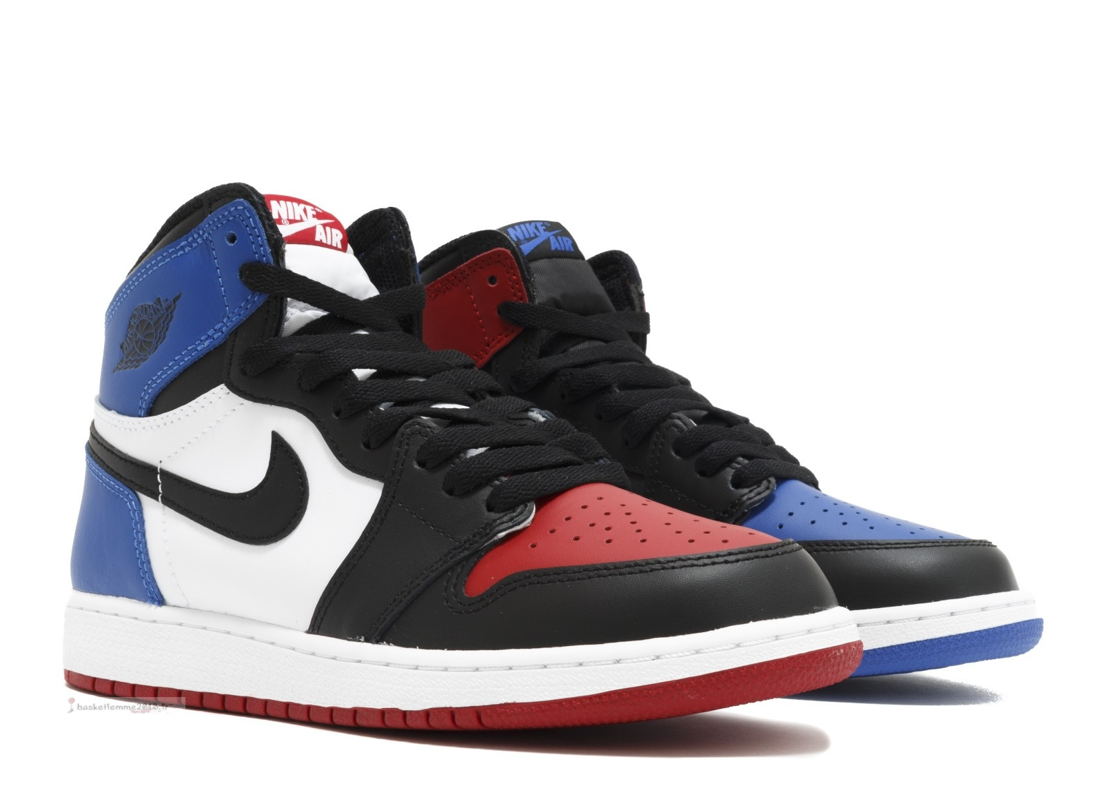 "Air Jordan 1 Retro High Og Bg (Gs) ""Top 3"" Noir Bleu Rouge (575441-026) Chaussure de Basket"