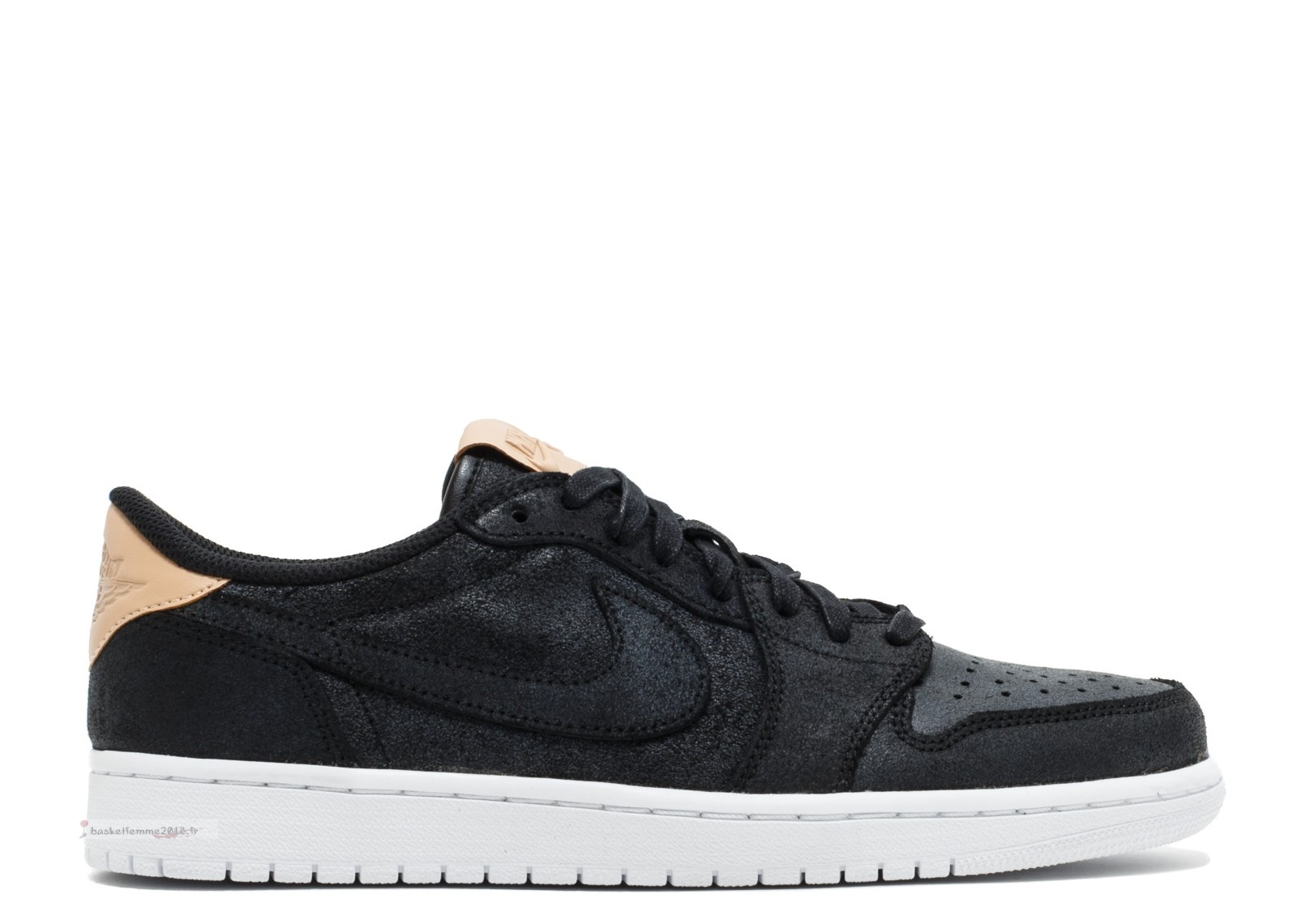 Air Jordan 1 Retro Low Og Prem Noir (905136-010) Chaussure de Basket