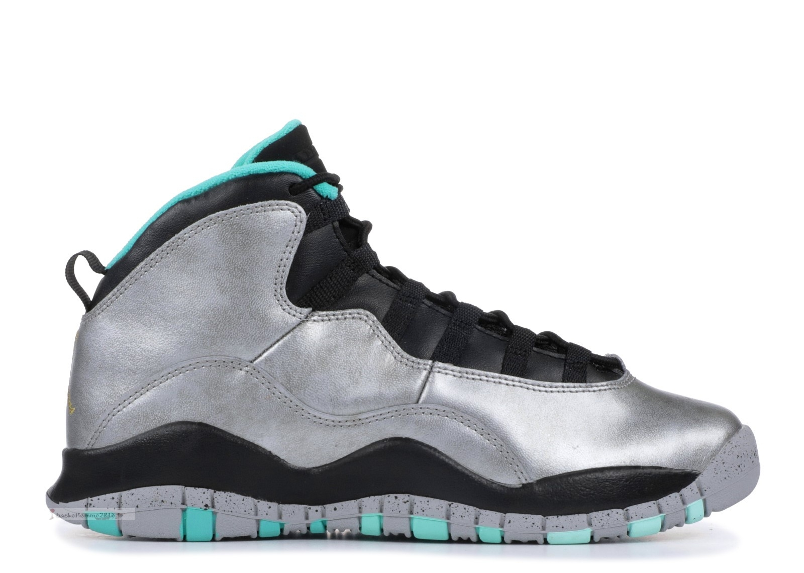 "Air Jordan 10 Retro 30Th Bg (Gs) ""Lady Liberty"" Métallique Argent (705179-045) Chaussure de Basket"