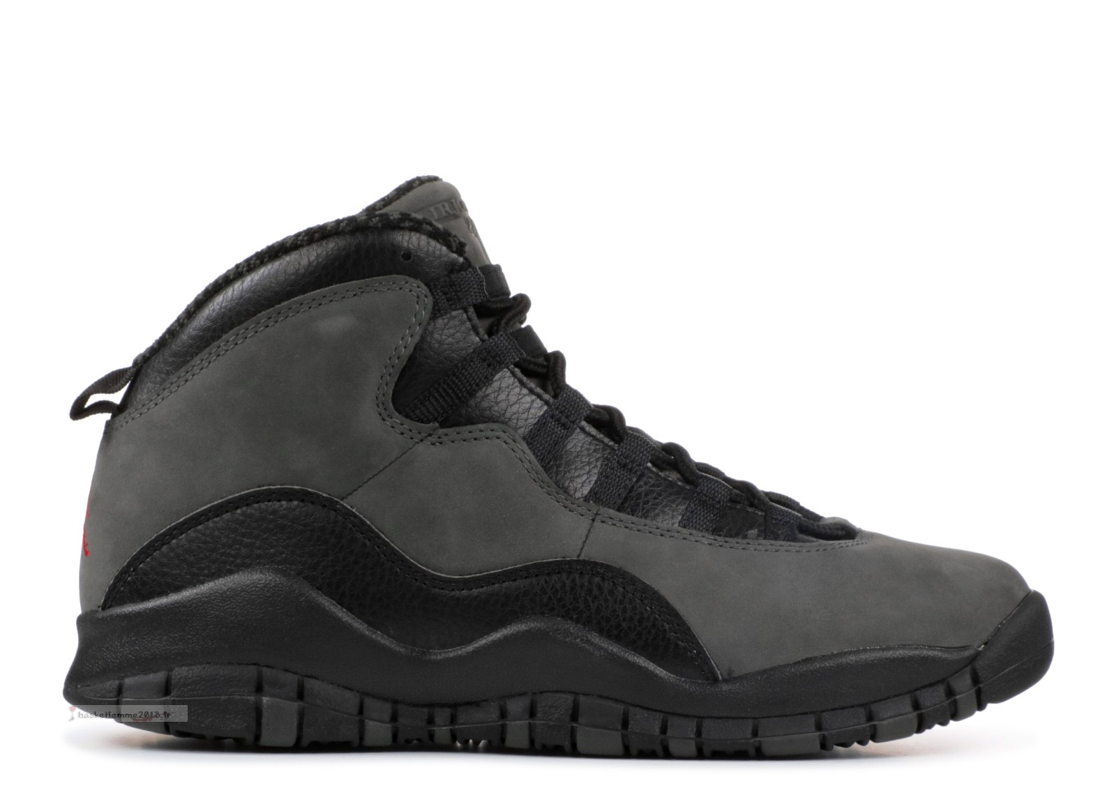 "Air Jordan 10 Retro Bg (Gs) ""Dark Shadow"" Gris Noir (310806-002) Chaussure de Basket"