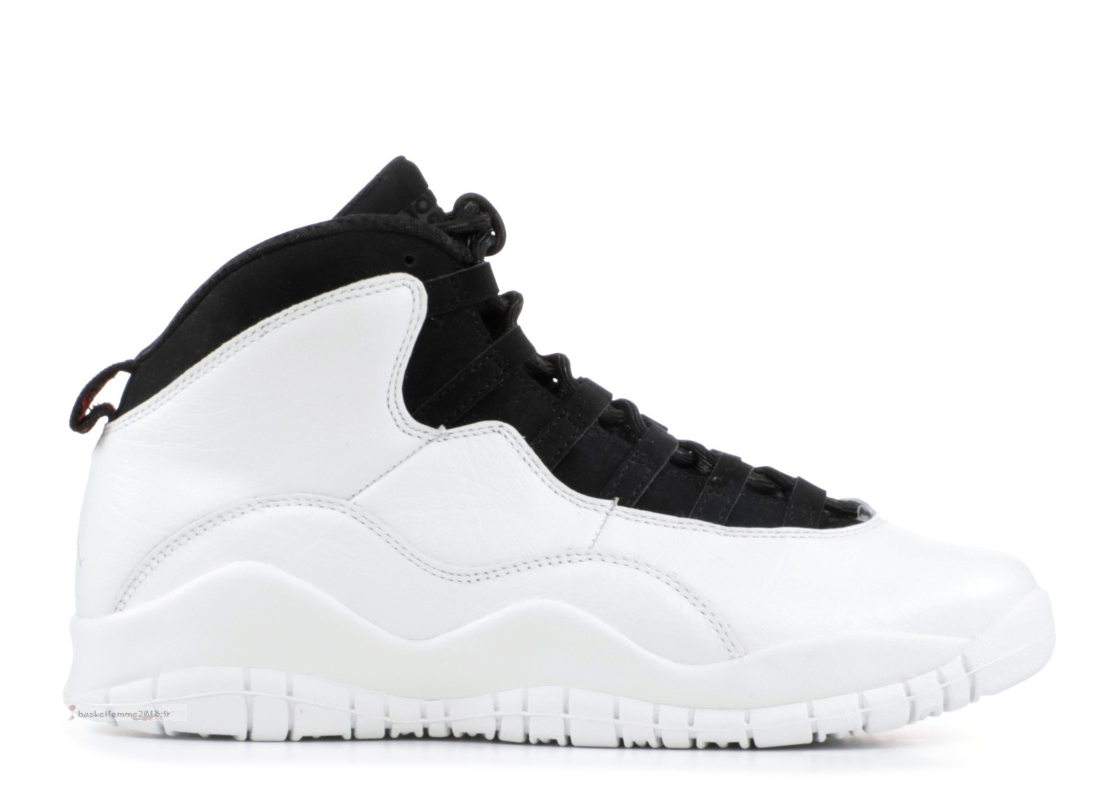 "Air Jordan 10 Retro Bg (Gs) ""Im Back"" Blanc Noir (310806-104) Chaussure de Basket"