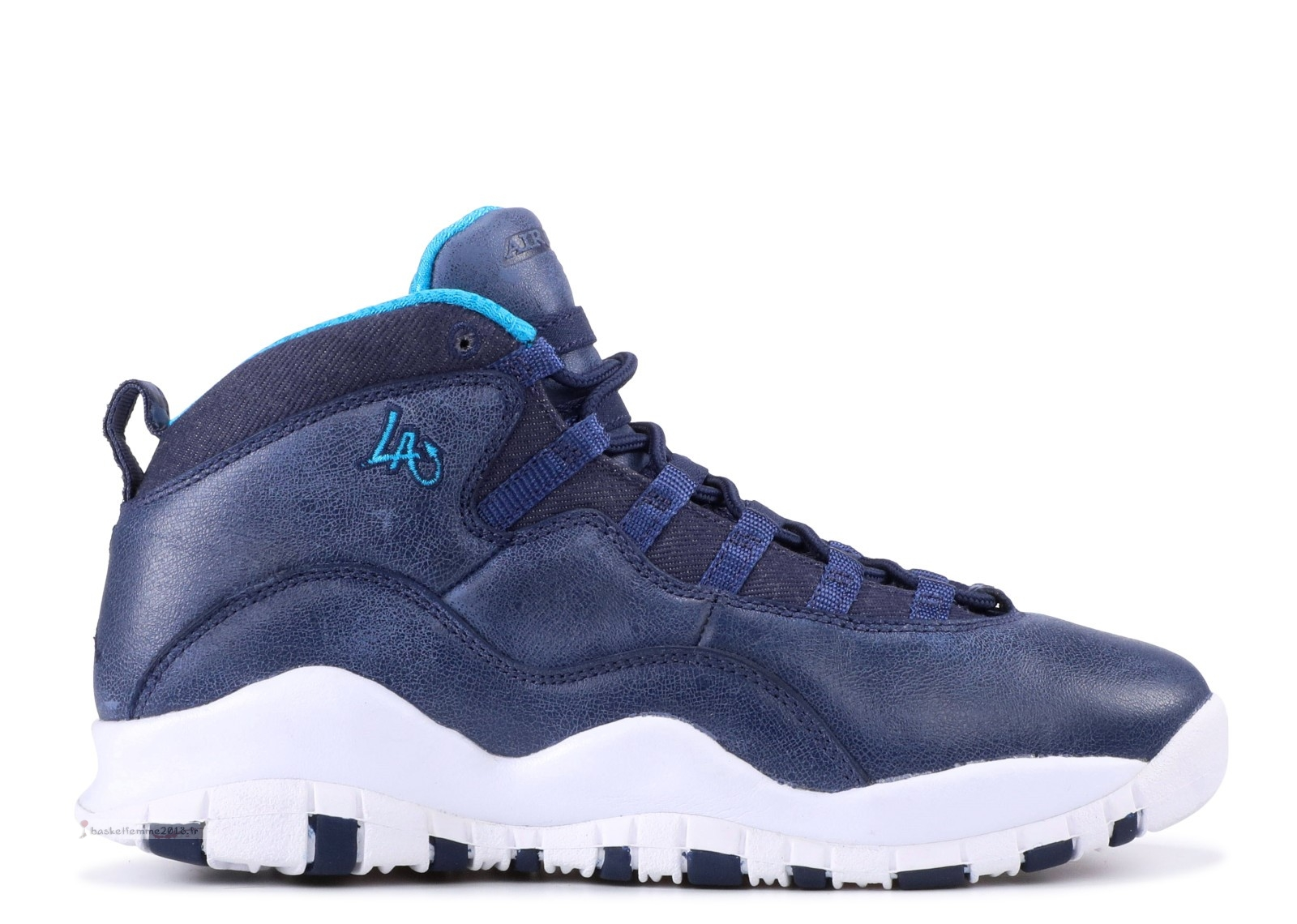 "Air Jordan 10 Retro Bg (Gs) ""La"" Marine Blanc (310806-404) Chaussure de Basket"