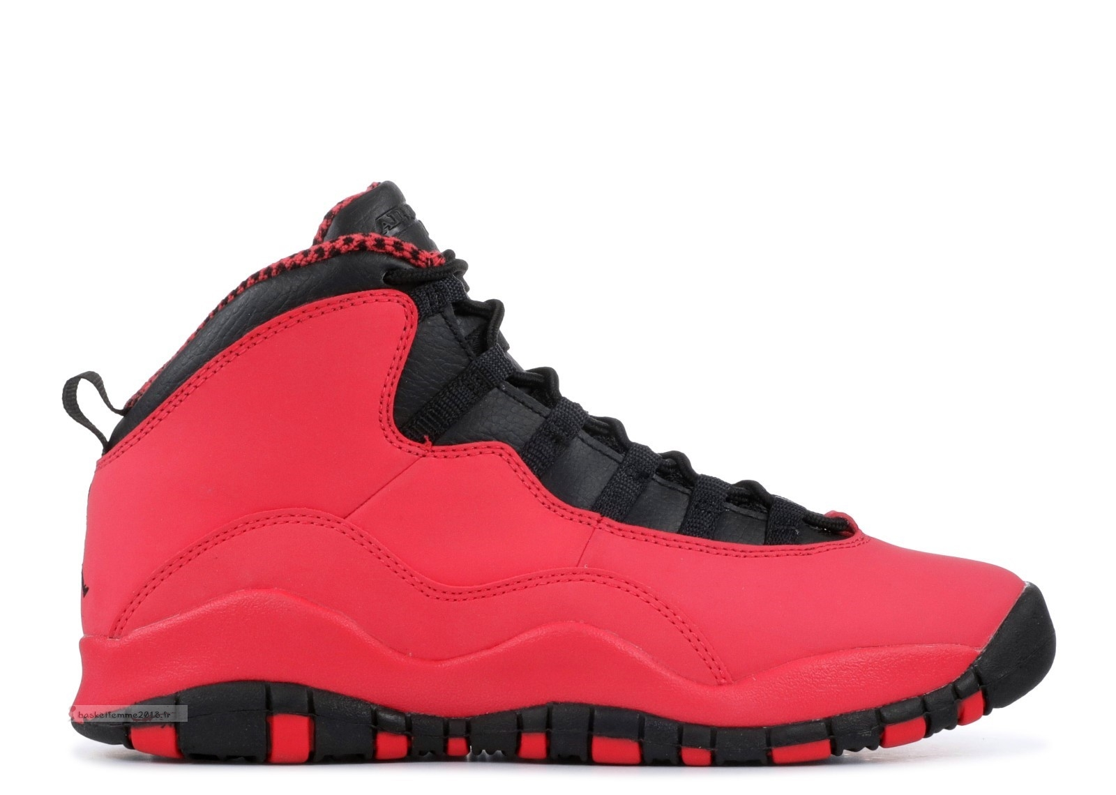 Air Jordan 10 Retro (Gs) Rouge (487211-605) Chaussure de Basket