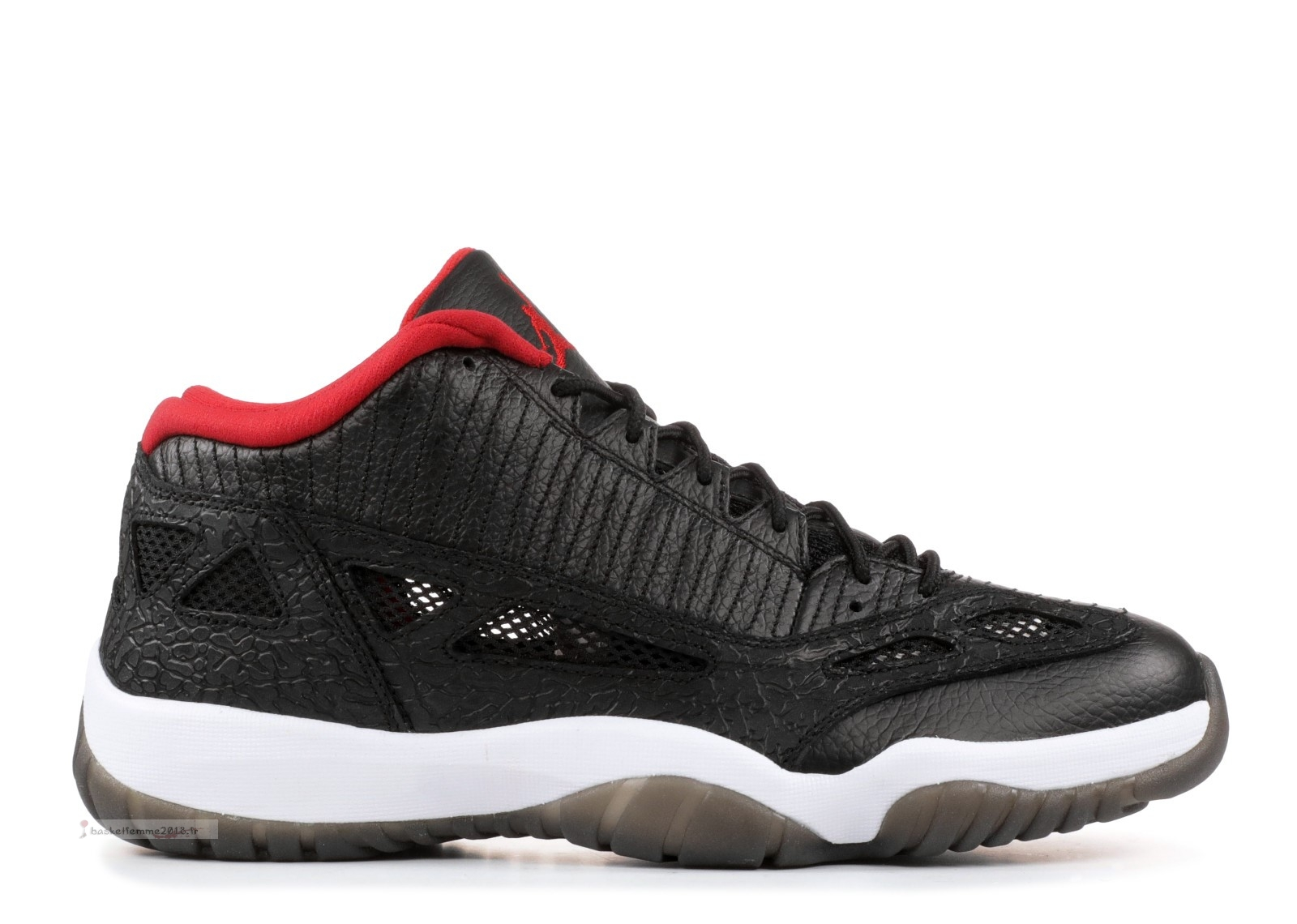 "Air Jordan 11 Retro Low ""2011 Release"" Noir Rouge (306008-001) Chaussure de Basket"