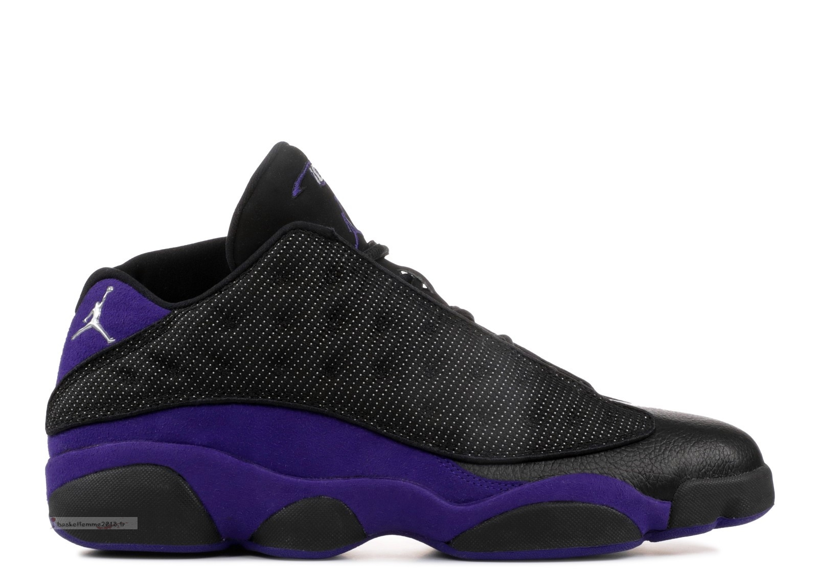 "Air Jordan 13 Low Pe ""Mike Bibby Kings Away"" Noir Pourpre (jbm265-m20) Chaussure de Basket"