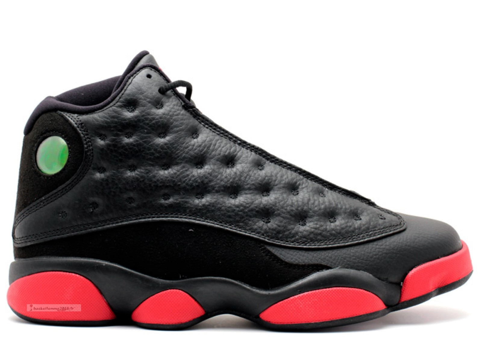"Air Jordan 13 Retro ""Dirty Bred"" Noir Rouge (414571-003) Chaussure de Basket"