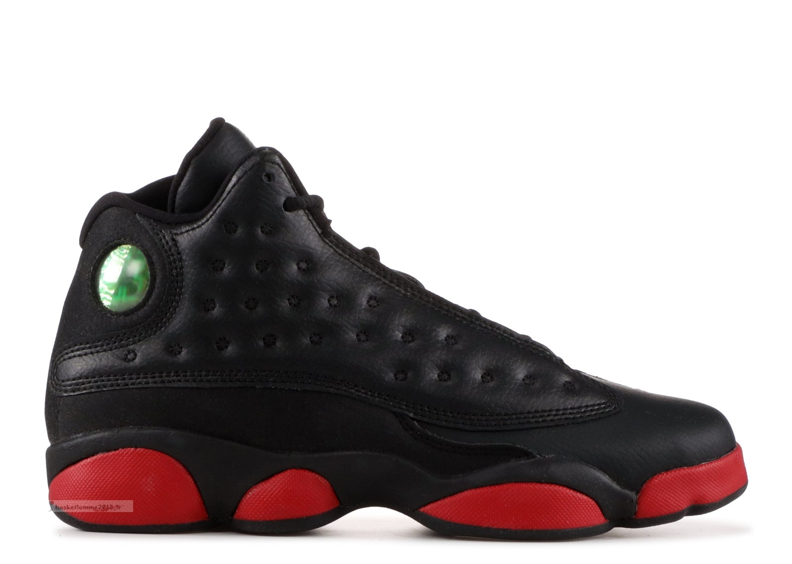 "Air Jordan 13 Retro (Gs) ""Dirty Bred"" Noir Rouge (414574-033) Chaussure de Basket"