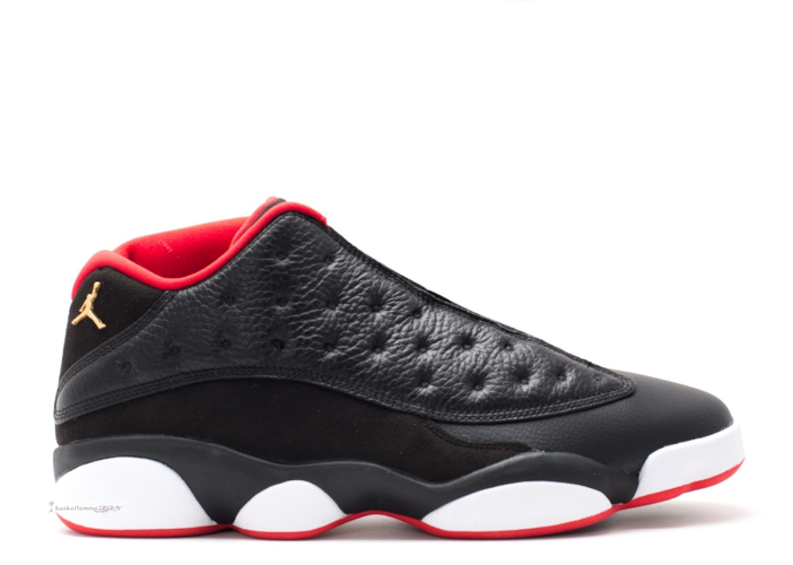 "Air Jordan 13 Retro Low ""Bred"" Noir Rouge (310810-027) Chaussure de Basket"