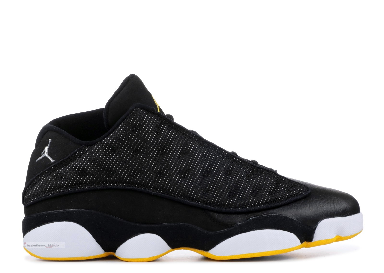 Air Jordan 13 Retro Low Noir Jaune (310810-001) Chaussure de Basket