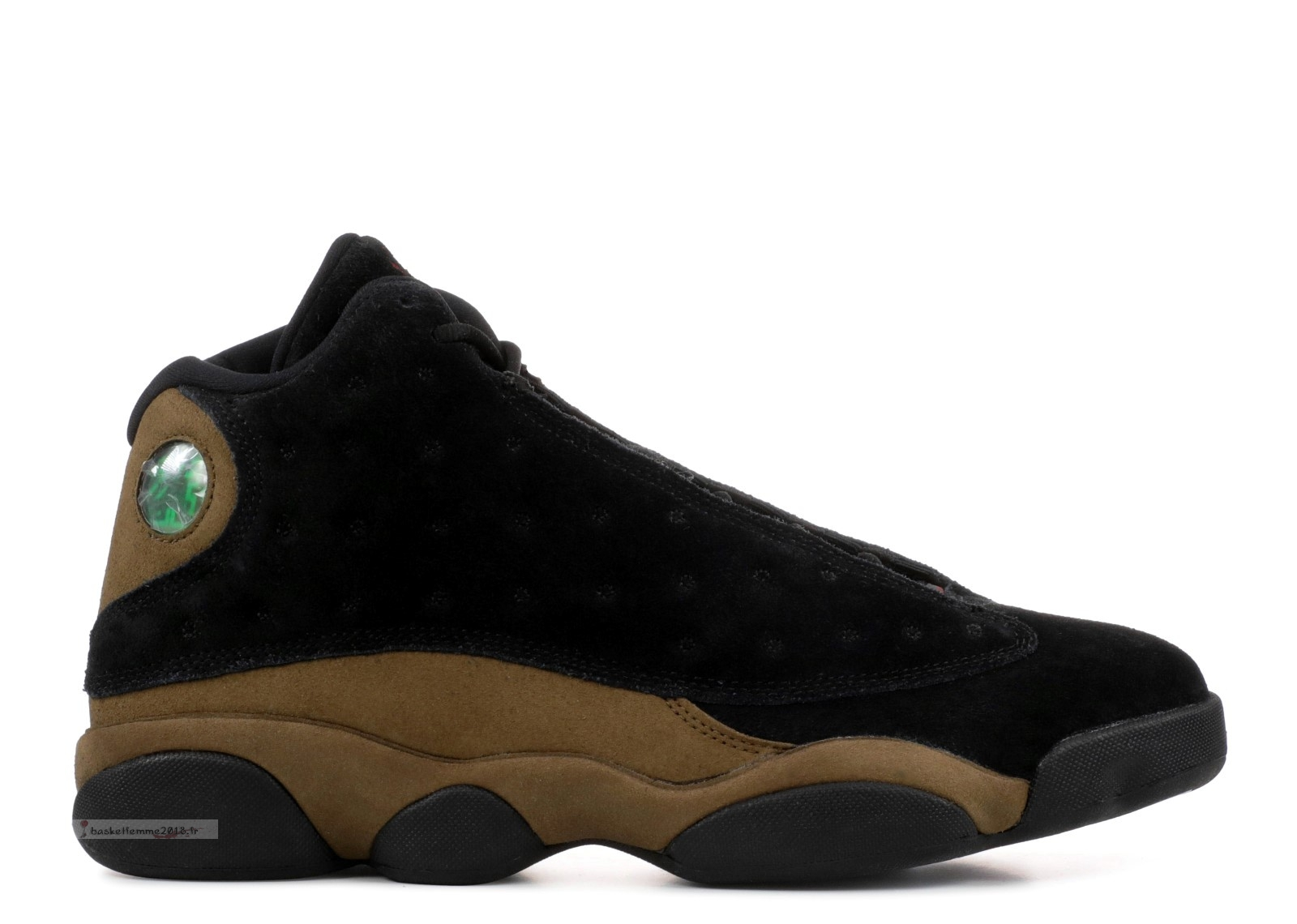 "Air Jordan 13 Retro ""Olive"" Noir Marron (414571-006) Chaussure de Basket"