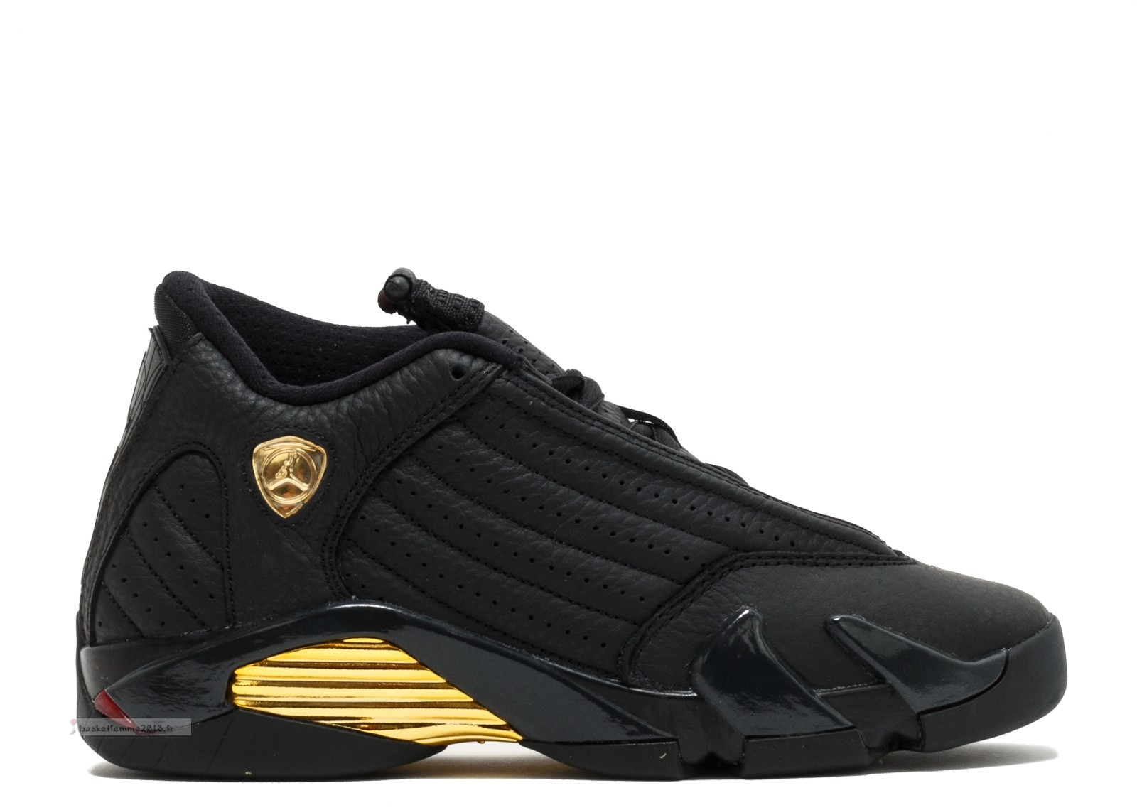 "Air Jordan 14 Retro Bg ""Defining Moments"" Noir Or (487524-022) Chaussure de Basket"