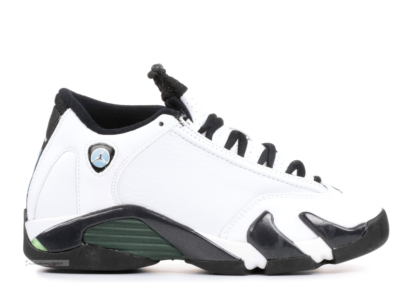 "Air Jordan 14 Retro Bg (Gs) ""Oxidized"" Blanc Noir (487524-106) Chaussure de Basket"