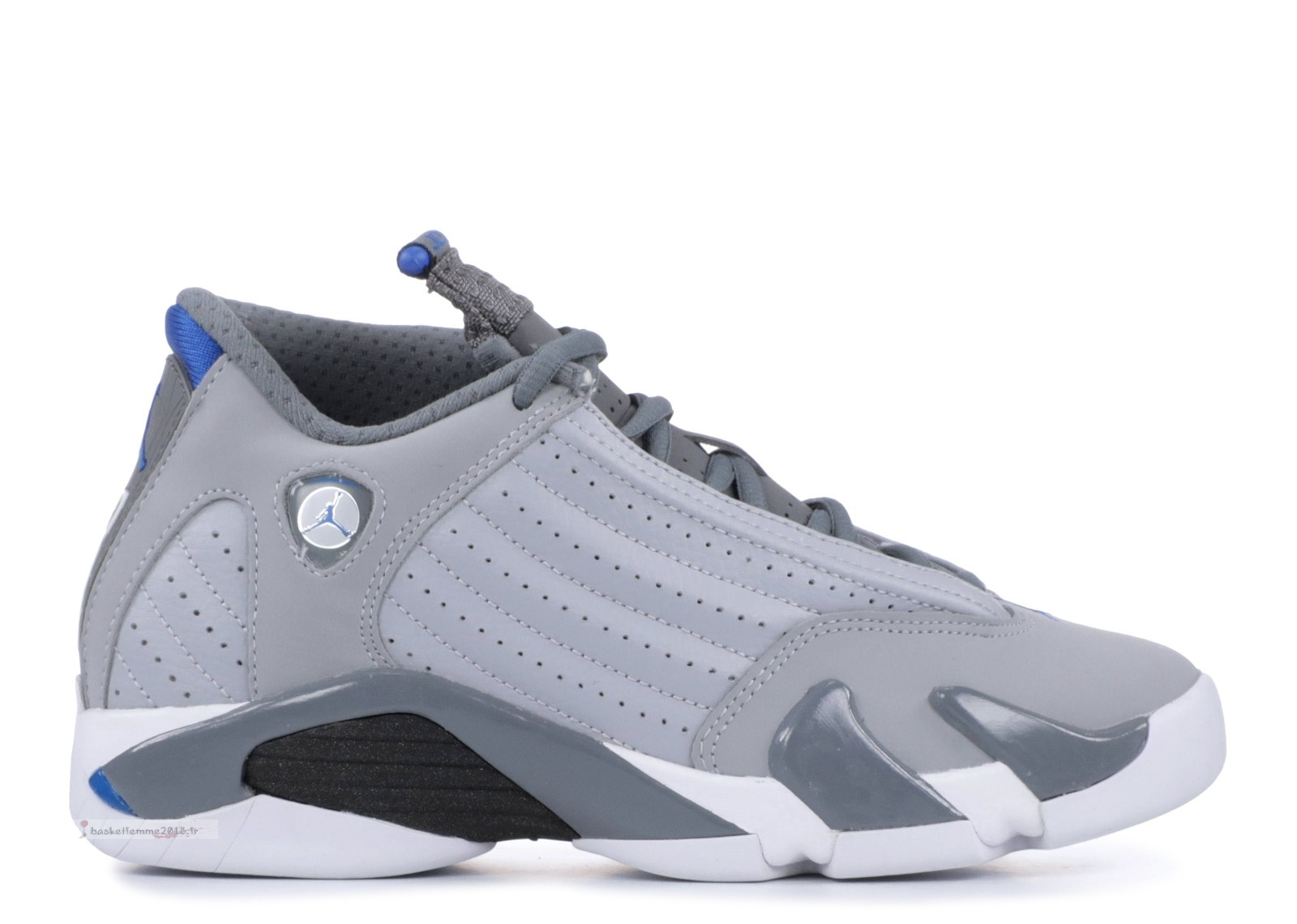 "Air Jordan 14 Retro Bg (Gs) ""Sport Blue"" Gris (487524-004) Chaussure de Basket"