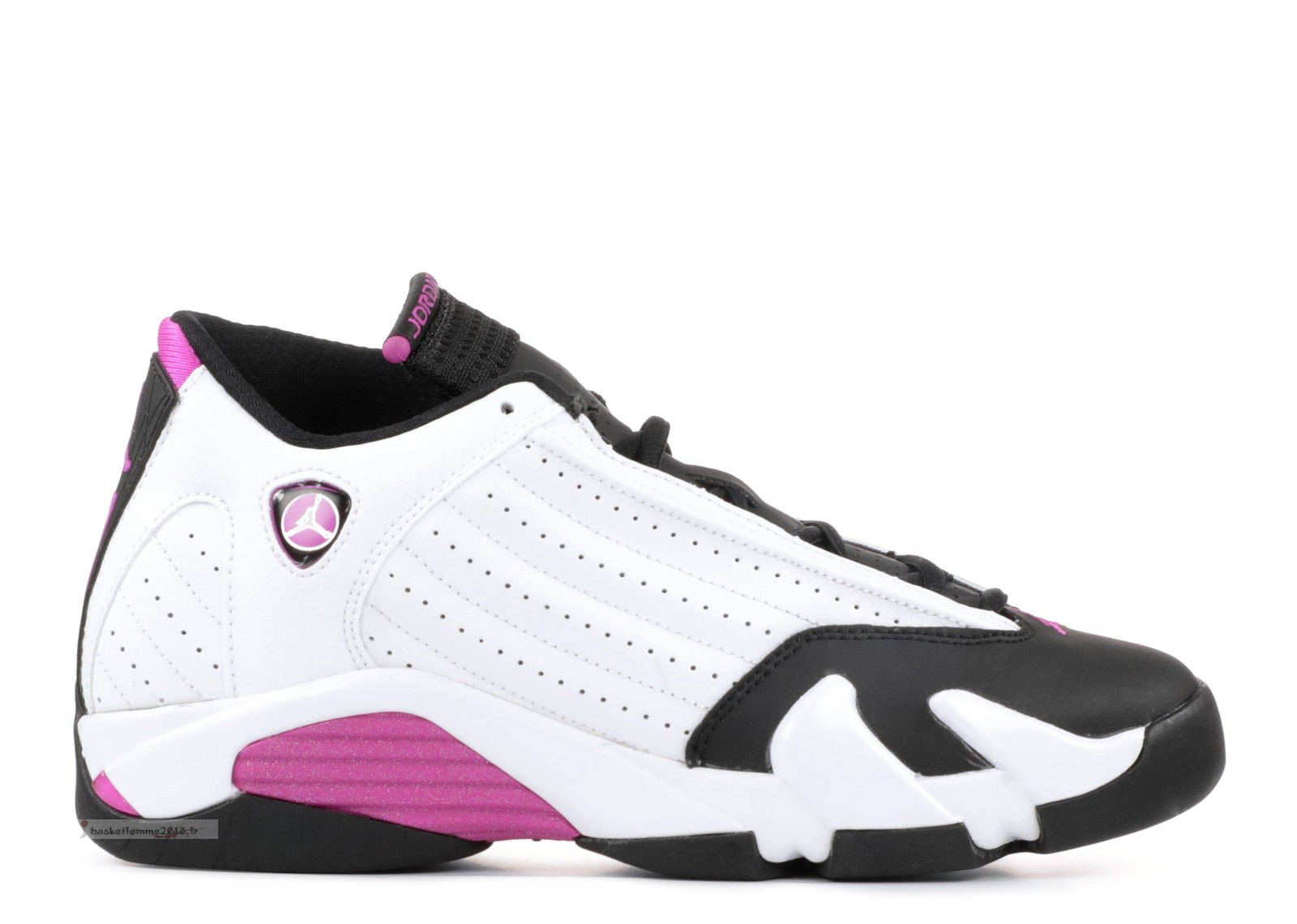 "Air Jordan 14 Retro Gg ""Fuchsia Blast"" Blanc Rose (654969-119) Chaussure de Basket"