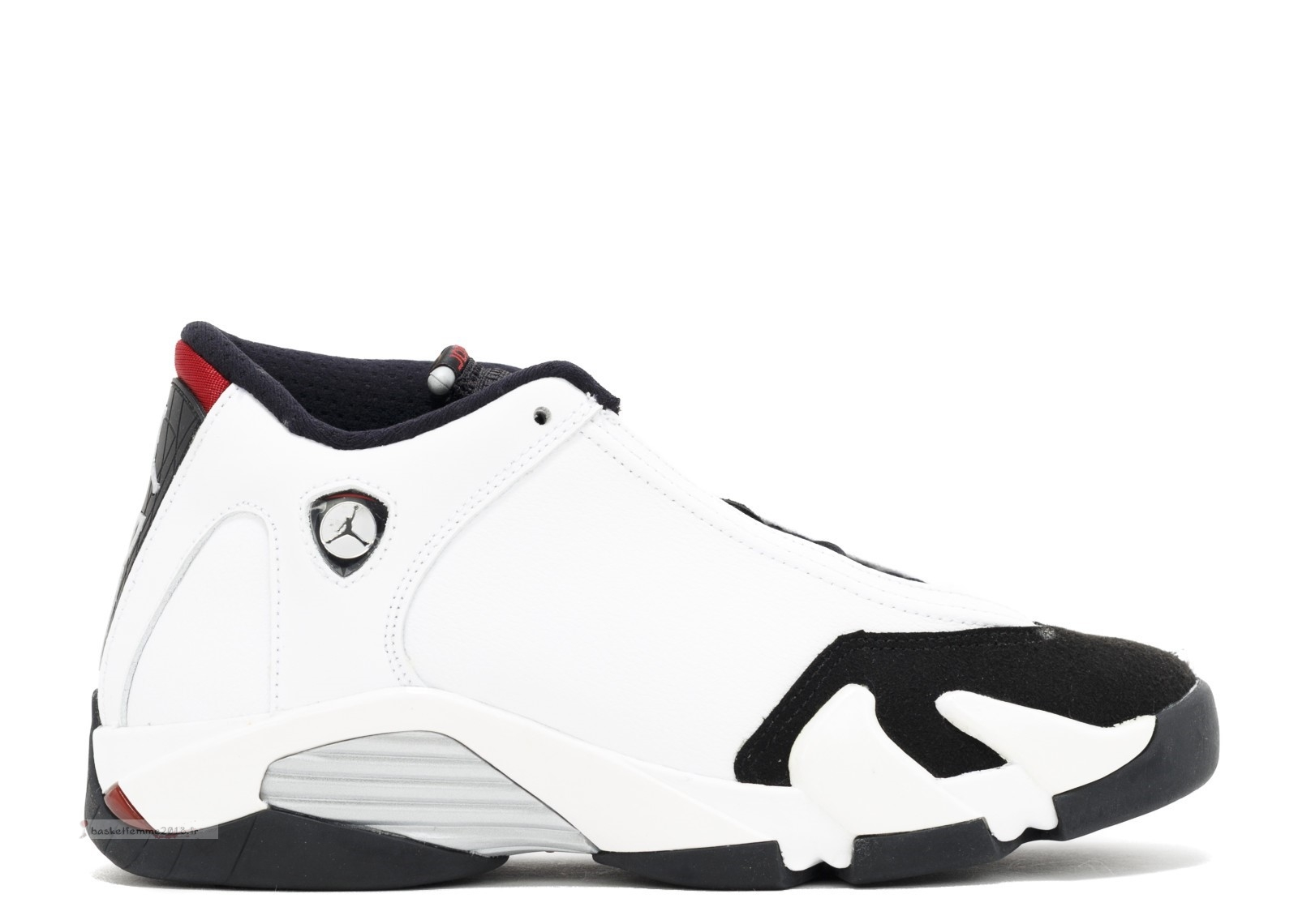 "Air Jordan 14 Retro (Gs) ""Black Toe"" Blanc Noir (654963-102) Chaussure de Basket"