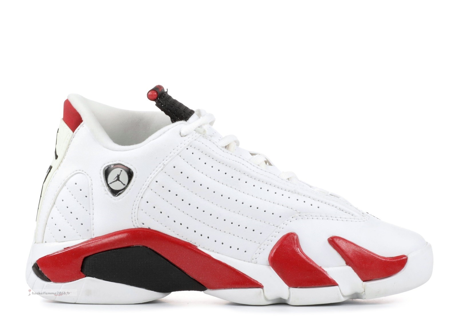 Air Jordan 14 Retro (Gs) Blanc Rouge (312091-101) Chaussure de Basket