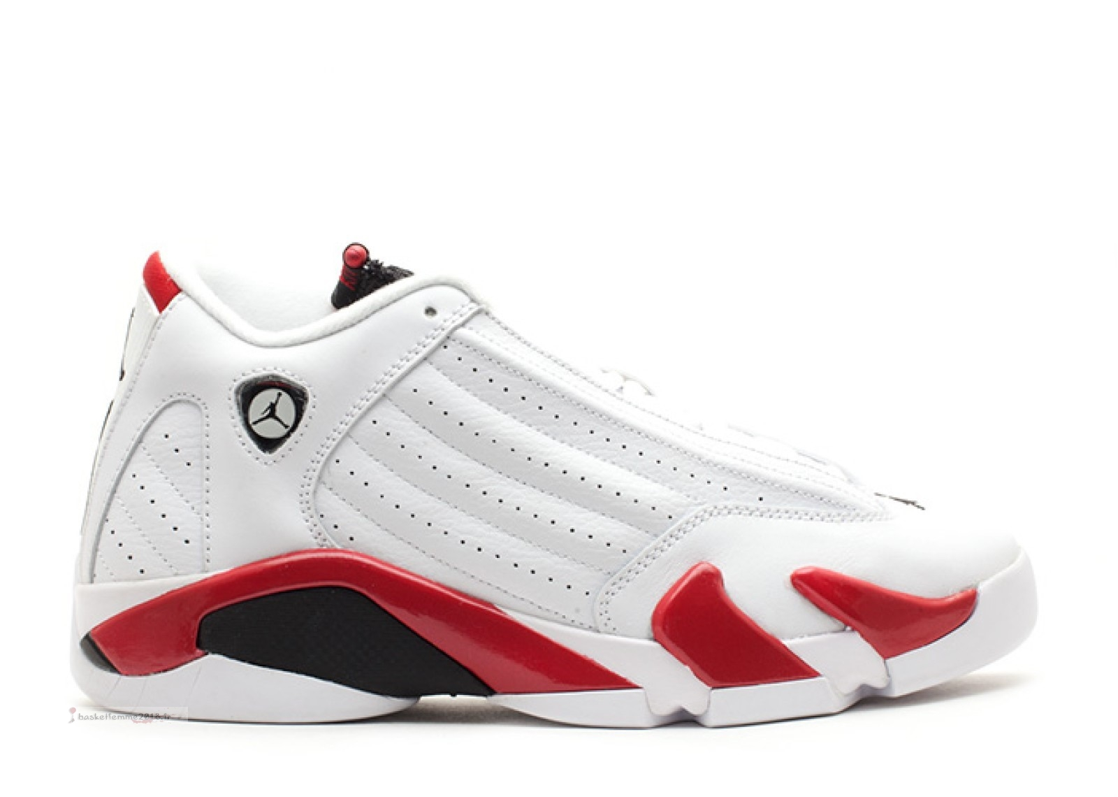 "Air Jordan 14 Retro (Gs) ""Candy Cane"" Blanc Rouge (487524-101) Chaussure de Basket"
