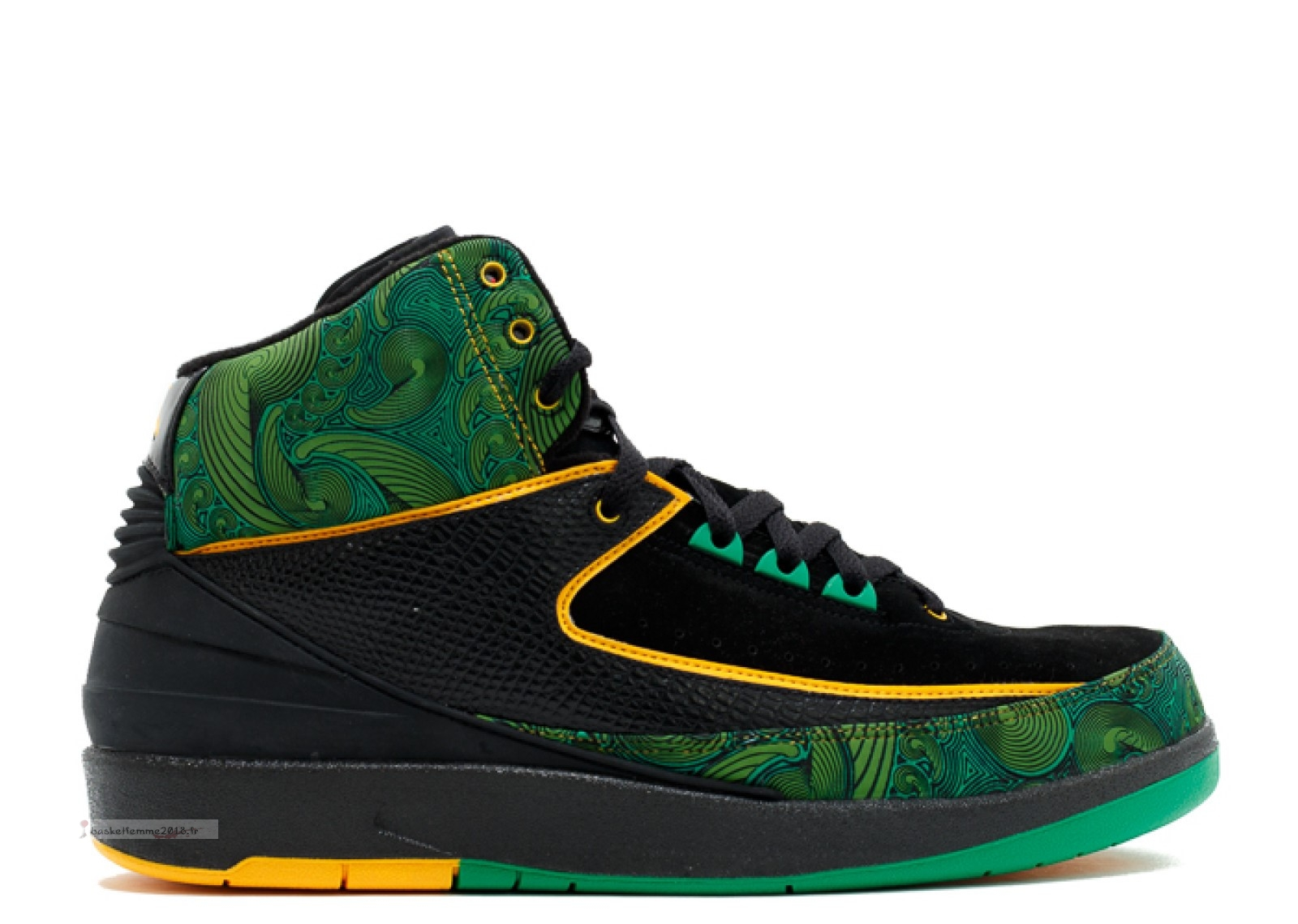 "Air Jordan 2 High Db ""Doernbecher"" Noir Vert Jaune (318304-071) Chaussure de Basket"