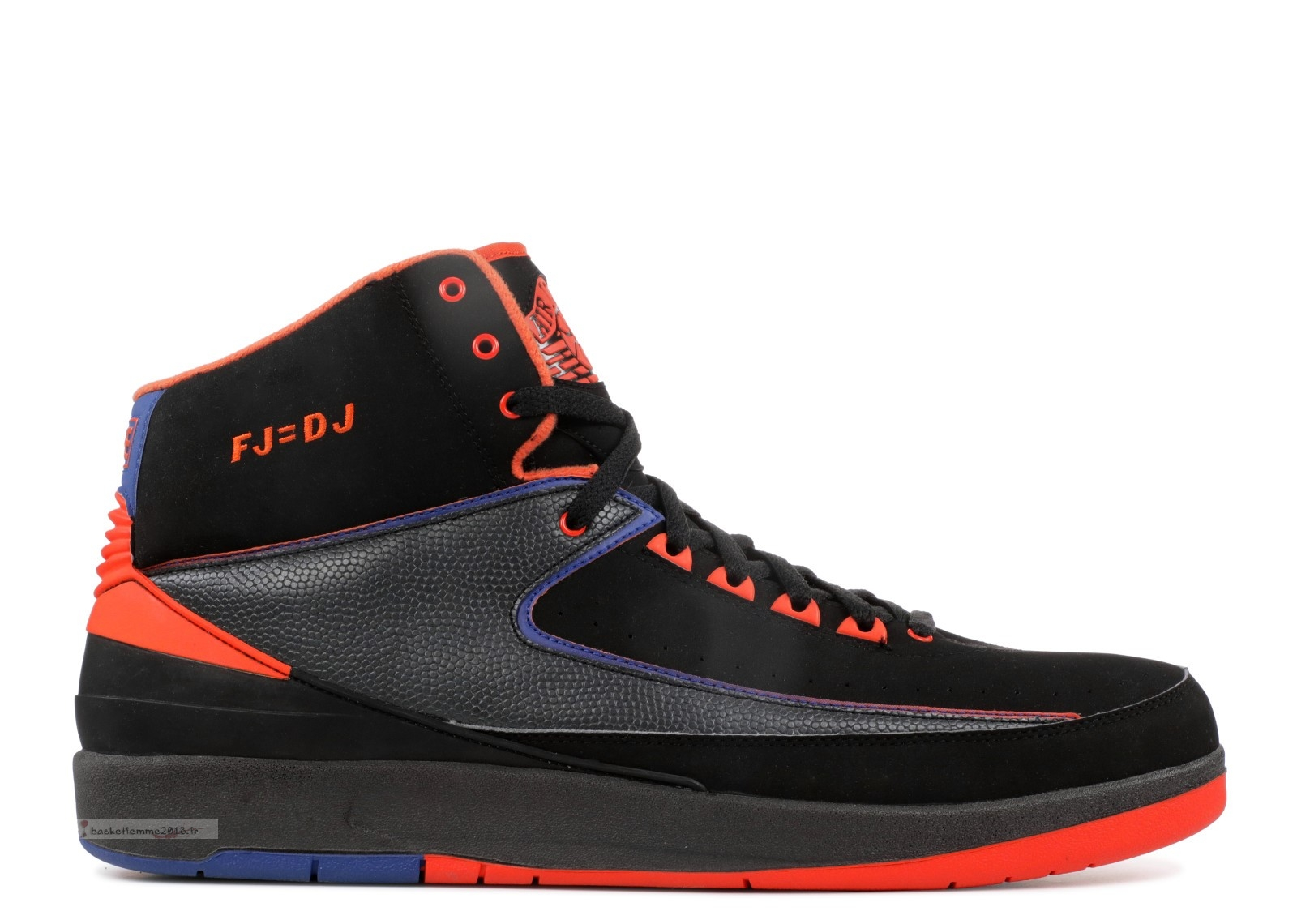 "Air Jordan 2 Retro Pe ""Fred Jones ""Away"""" Noir Orange Bleu (mjord65874513) Chaussure de Basket"