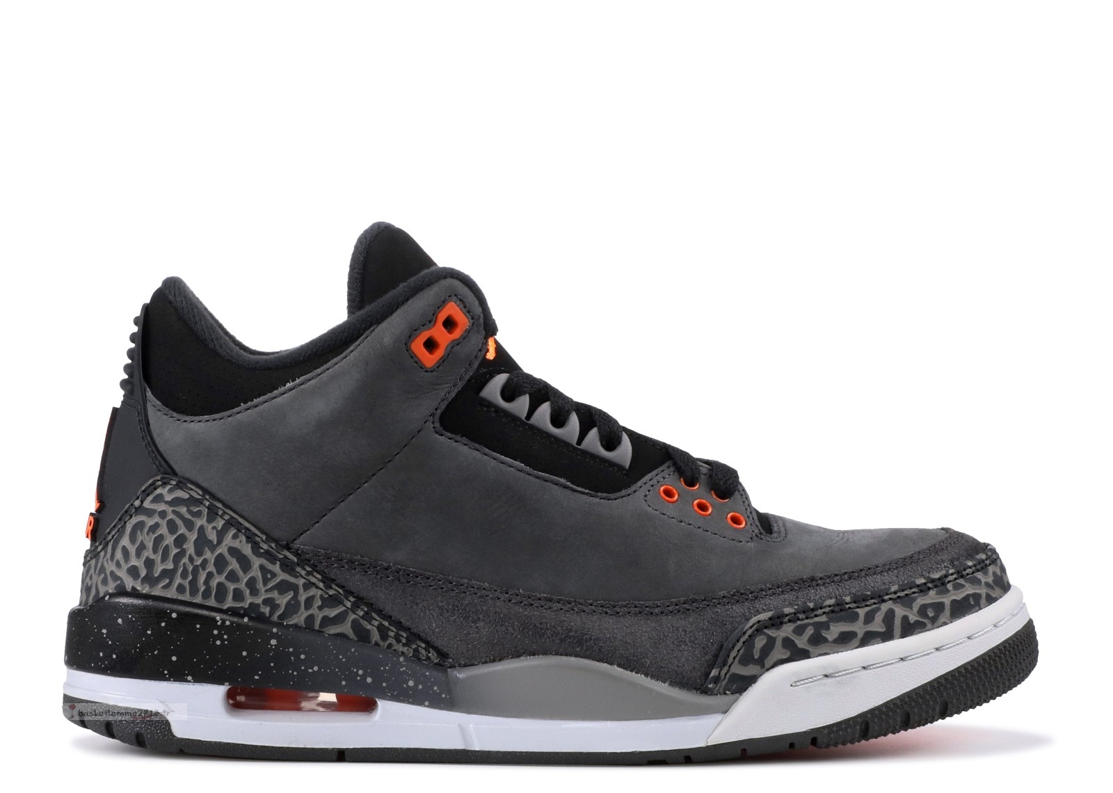"Air Jordan 3 Retro ""Fear Pack"" Noir Orange (626967-040) Chaussure de Basket"