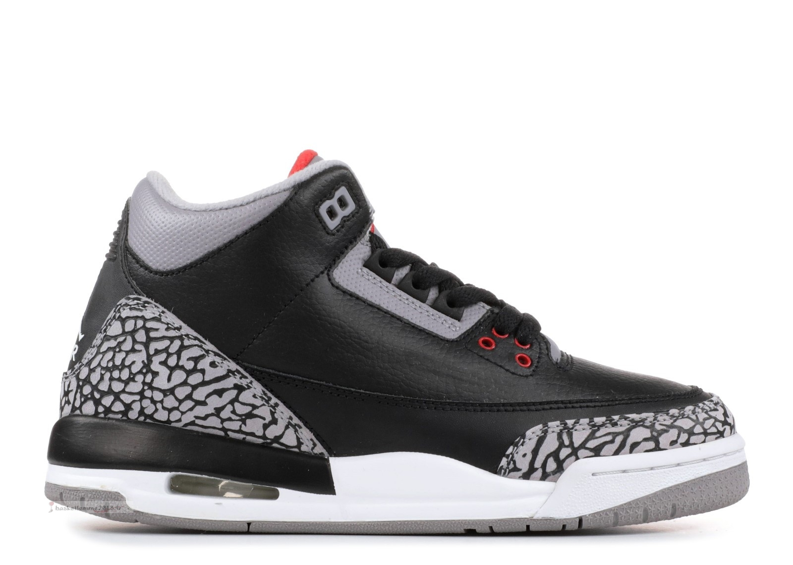 "Air Jordan 3 Retro (Gs) ""Countdown Pack"" Noir Gris (340255-061) Chaussure de Basket"
