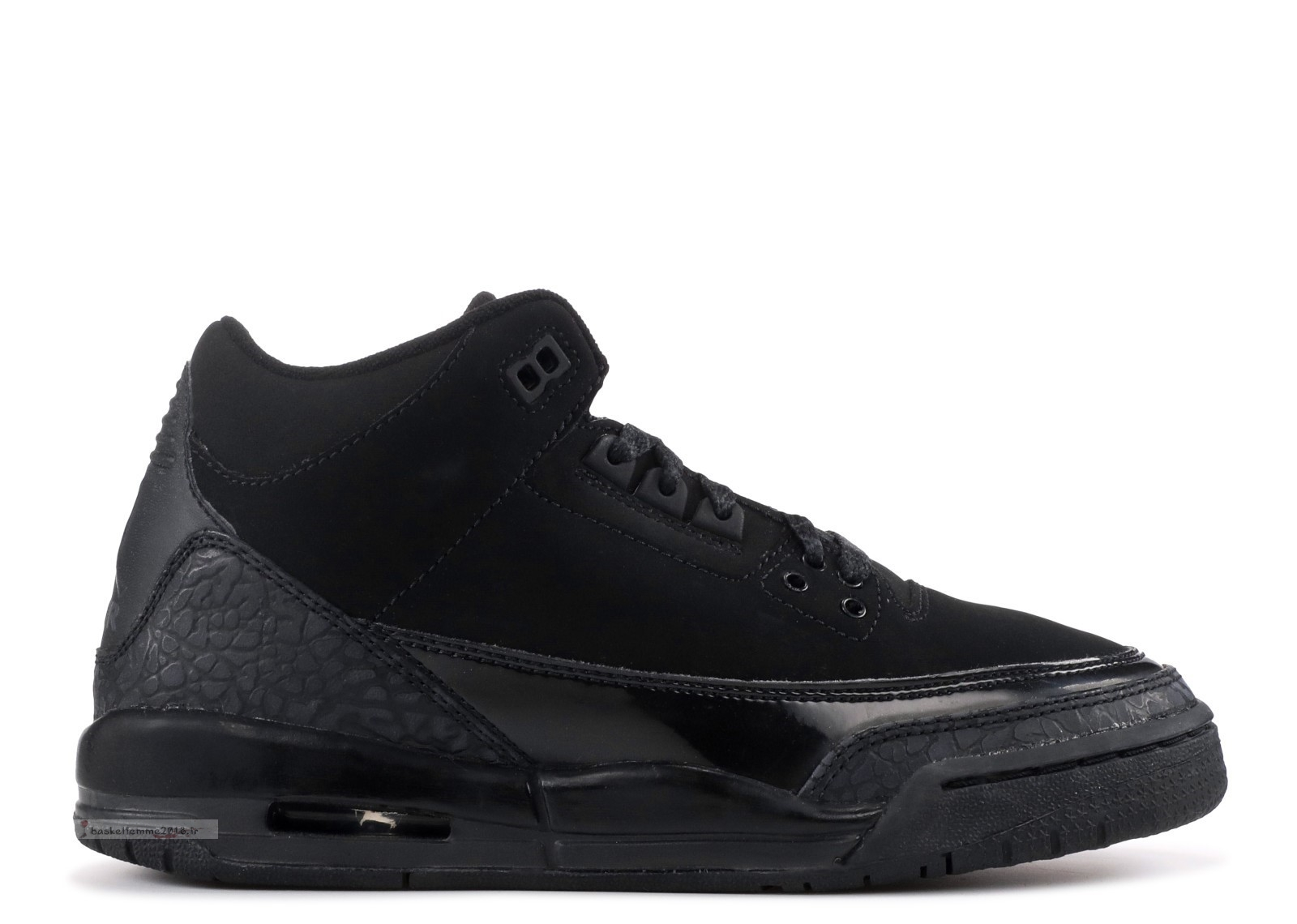 "Air Jordan 3 Retro (Gs) ""Noir Cat"" Noir (834014-002) Chaussure de Basket"