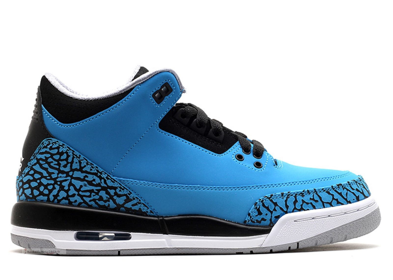 "Air Jordan 3 Retro (Gs) ""Powder Bleu"" Bleu (398614-406) Chaussure de Basket"