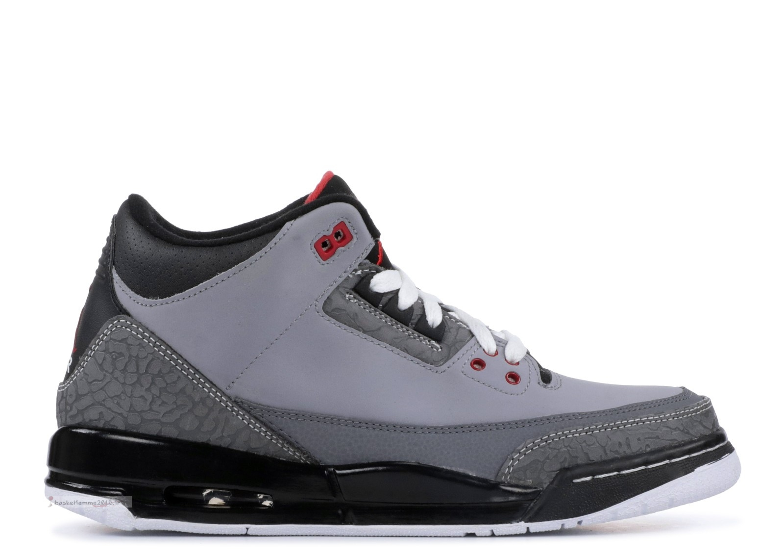 "Air Jordan 3 Retro (Gs) ""Stealth"" Gris (398614-003) Chaussure de Basket"