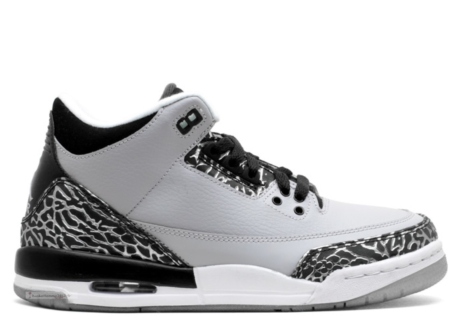 "Air Jordan 3 Retro (Gs) ""Wolf Gris"" Gris (398614-004) Chaussure de Basket"