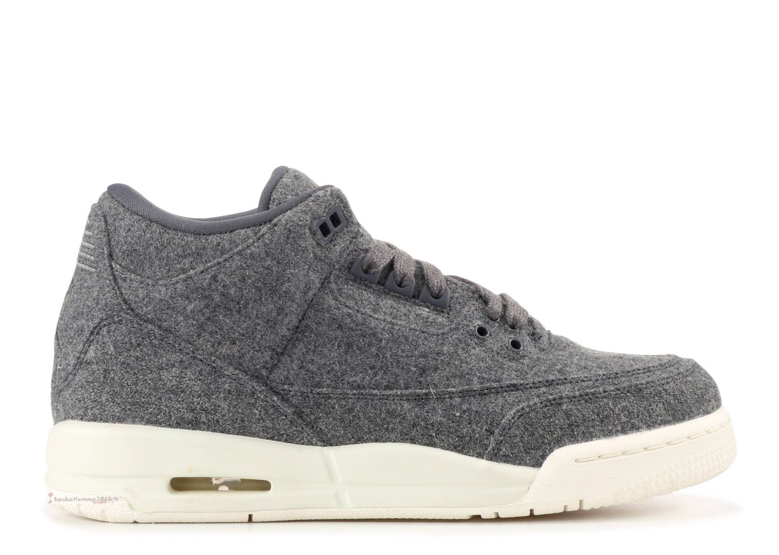 "Air Jordan 3 Retro (Gs) ""Wool"" Grey (861427-004) Chaussure de Basket"