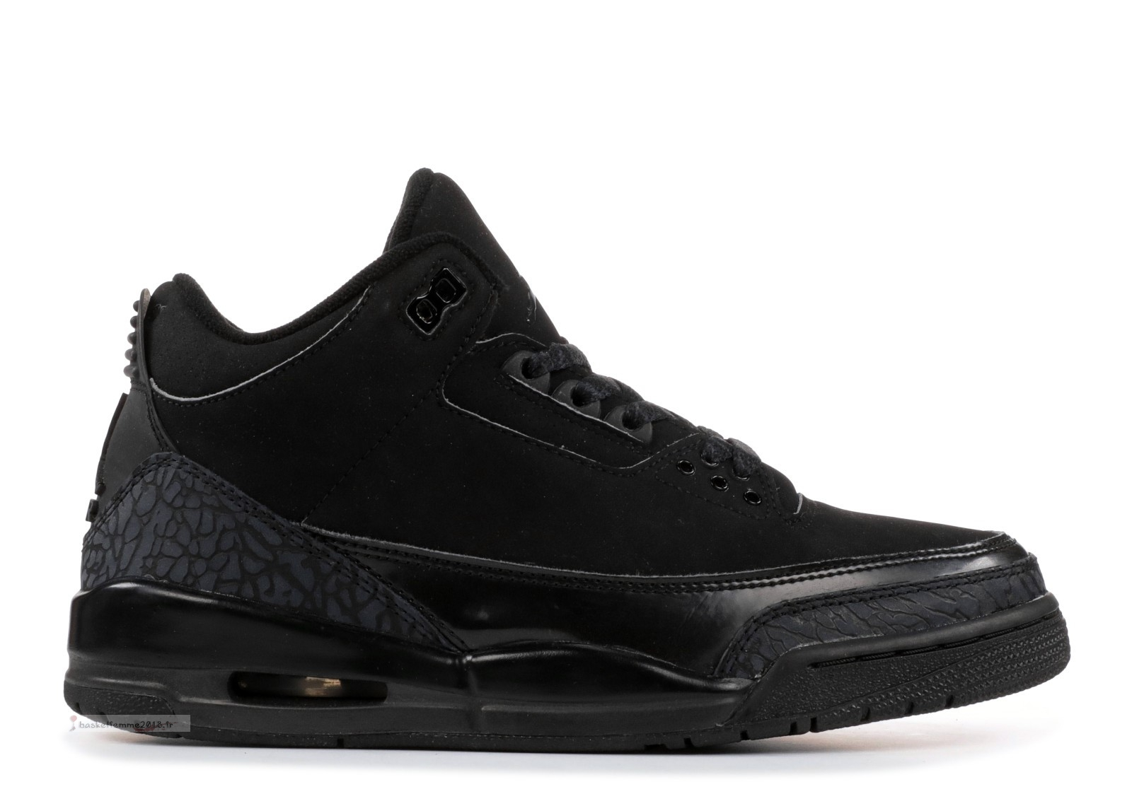 "Air Jordan 3 Retro ""Noir Cat"" Noir (136064-002) Chaussure de Basket"