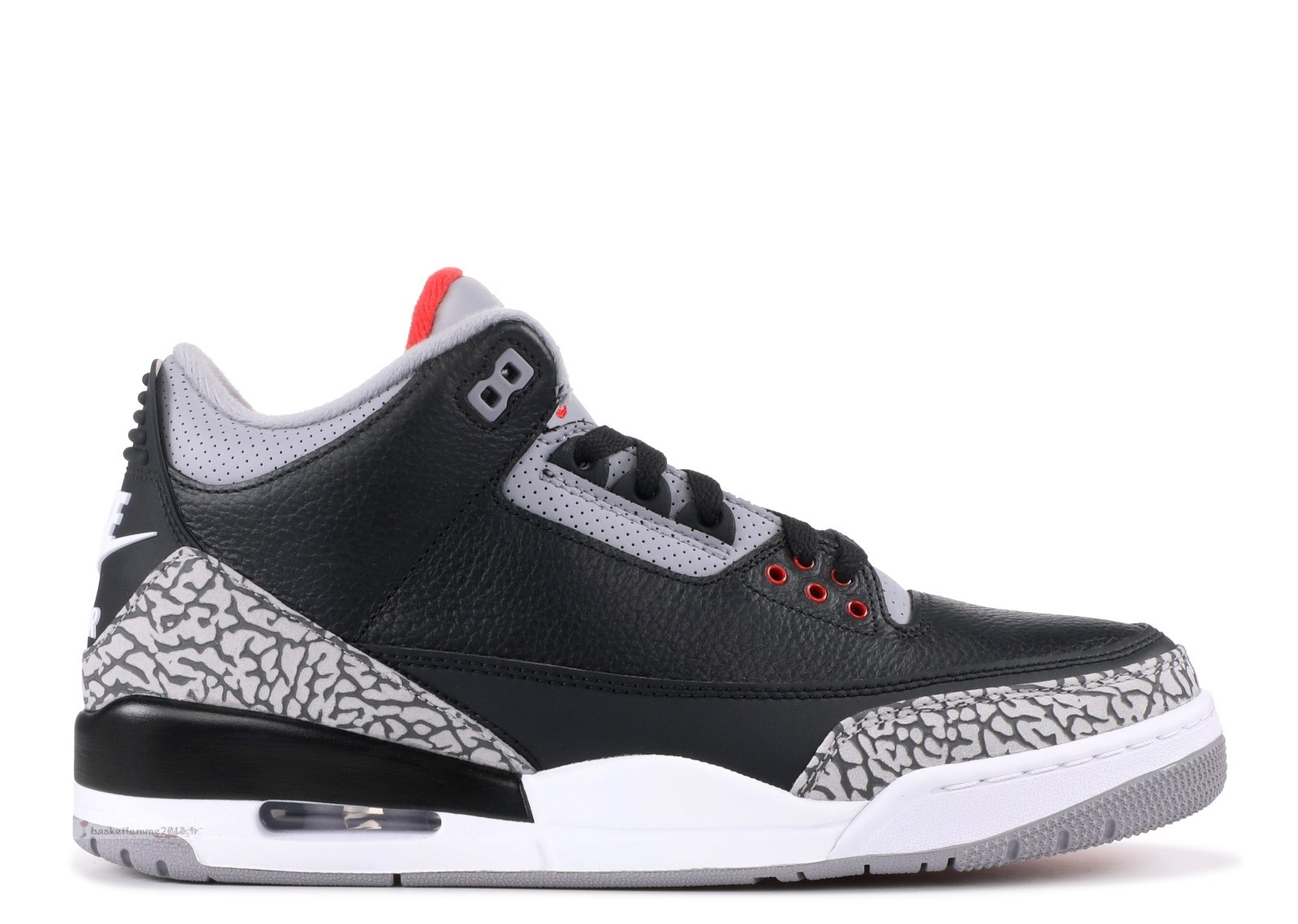 "Air Jordan 3 Retro Og ""Black Cement"" Noir Gris (854262-001) Chaussure de Basket"