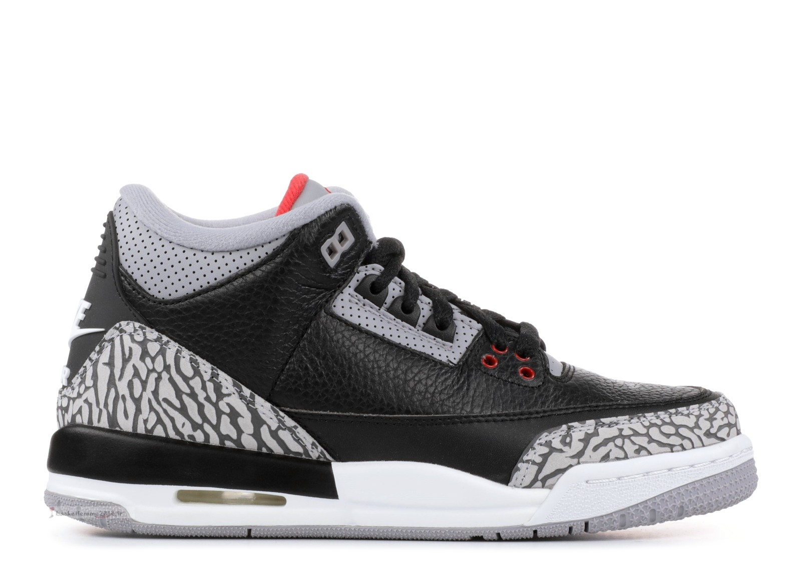 "Air Jordan 3 Retro Og (Gs) ""Black Cement"" Noir Gris (854261-001) Chaussure de Basket"