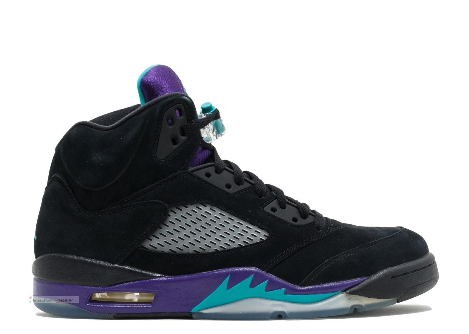 "Air Jordan 5 Retro ""Black Grape"" Noir Pourpre (136027-007) Chaussure de Basket"
