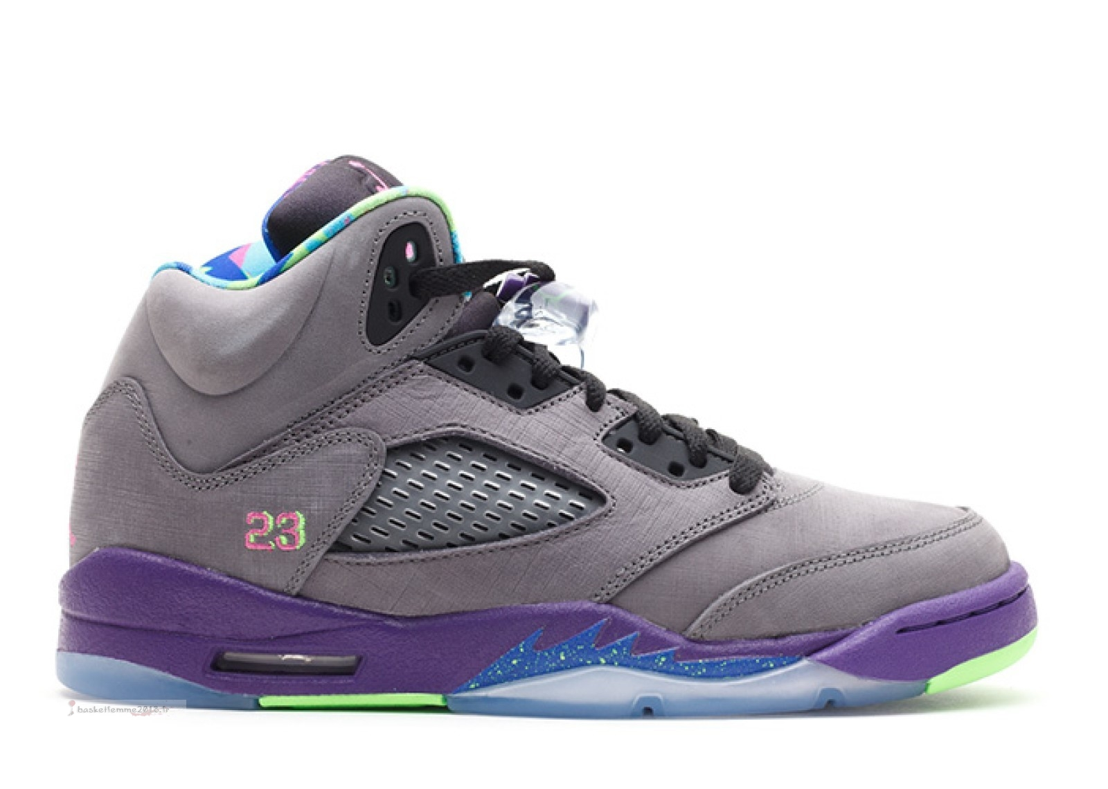 "Air Jordan 5 Retro (Gs) ""Bel Air"" Gris Pourpre (621959-090) Chaussure de Basket"