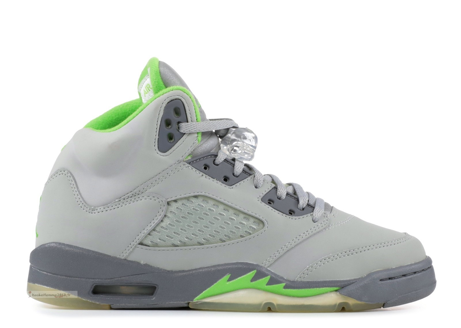 "Air Jordan 5 Retro (Gs) ""Green Bean"" Gris Vert (134092-031) Chaussure de Basket"