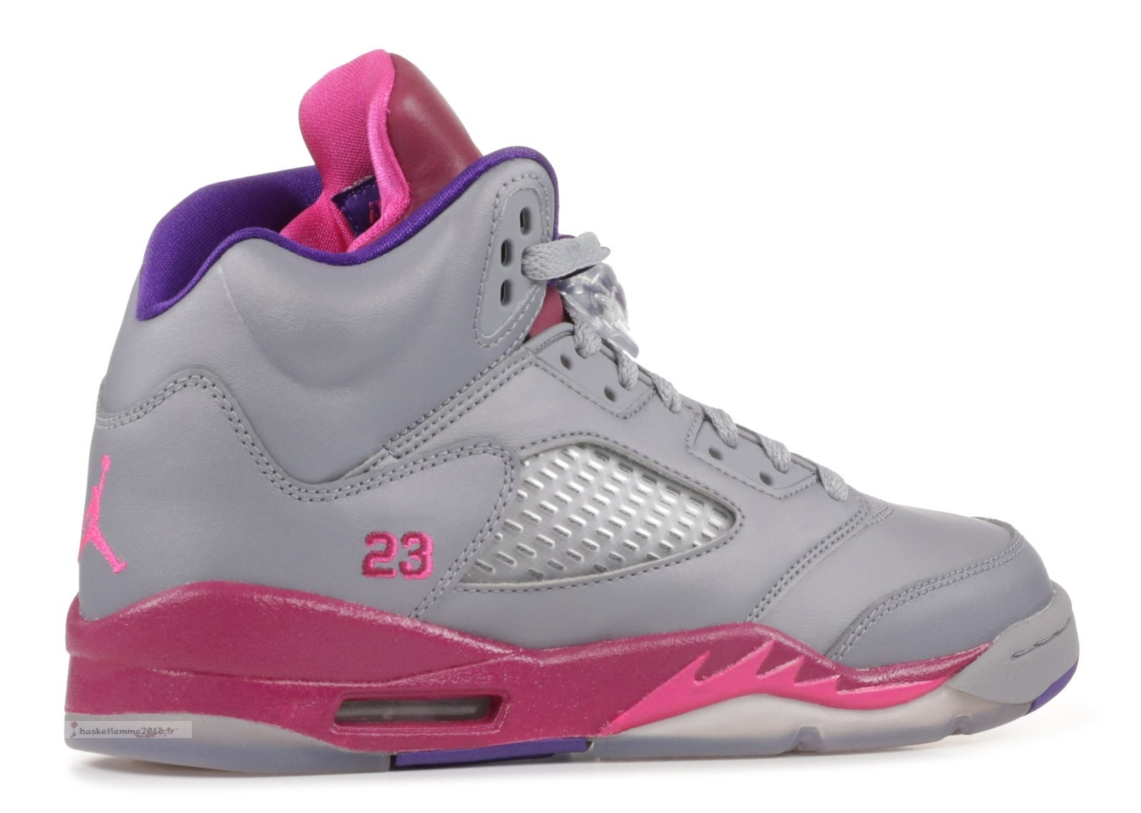 Air Jordan 5 Retro (Gs) Gris Rose (440892-009) Chaussure de Basket