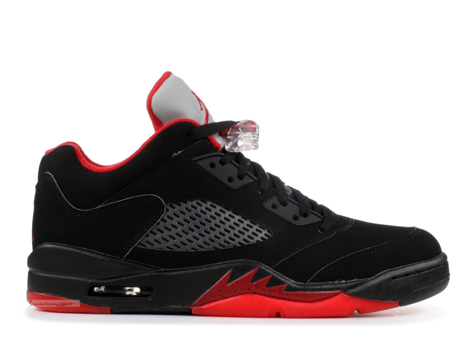 "Air Jordan 5 Retro Low ""Alternate 90"" Noir Rouge (819171-001) Chaussure de Basket"