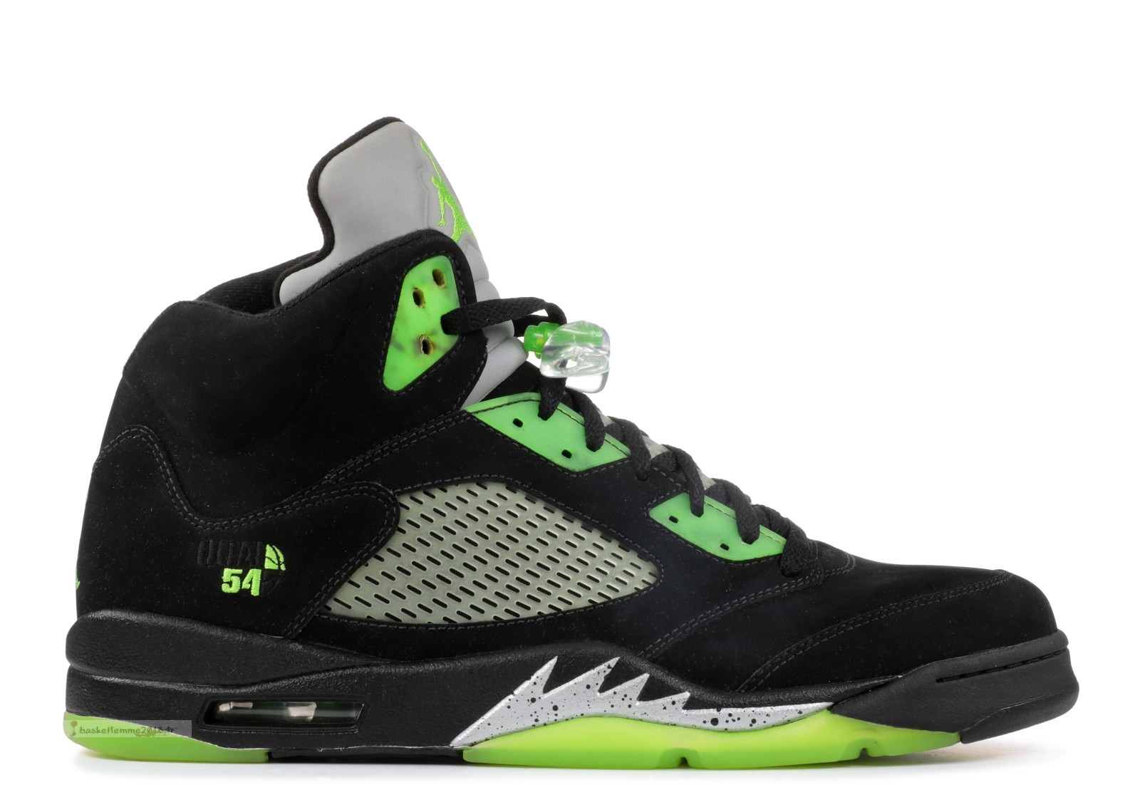 "Air Jordan 5 Retro Q54 ""Quai 54 Friends And Family"" Noir Vert (fa11mnjdls511) Chaussure de Basket"
